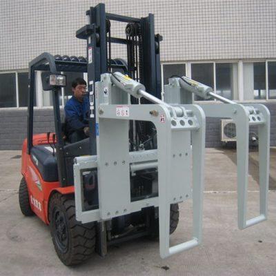 Logghållare för hydrauliska gaffeltruckar