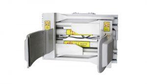 Forklfit-fäste stål vit 55 gallon gaffeltrumklämma