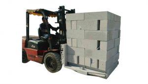 Hydraulisk gaffeltruck Betongstenar Blocklyftklämma