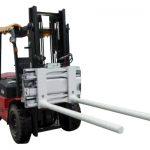 Sidoförskjutande stångarmklämmor med truck