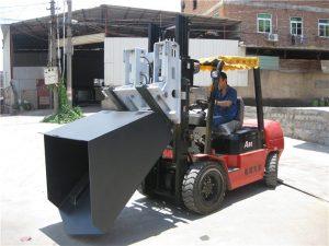 3 ton Hyundai Diesel Forklift Fästskopa Hängad gaffel och hink