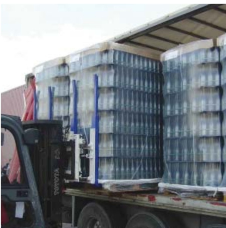 Single Double Pallet Forks Handling Beverage